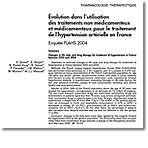 Évolution dans l'utilisation des traitements non médicamenteux et médicamenteux pour le traitement de l'hypertension artérielle en France : Enquête FLAHS 2004