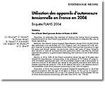 Utilisation des appareils d'automesure tensionnelle en France en 2004
