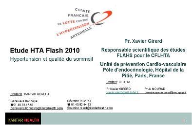 Rapport FLAHS 2010 - Sommeil et HTA