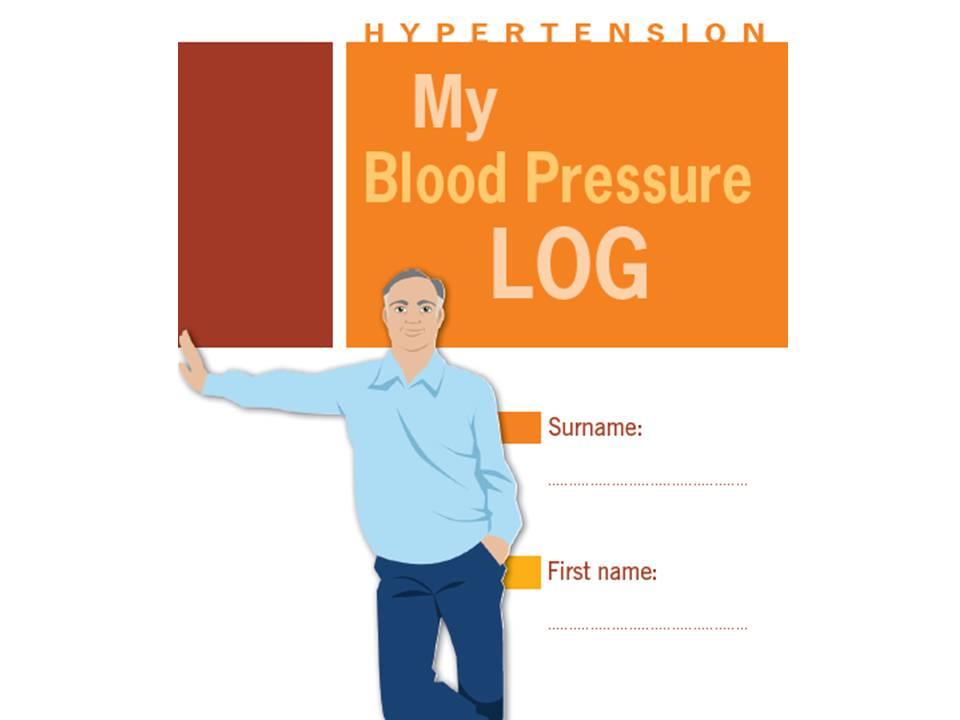 My blood pressure log in English