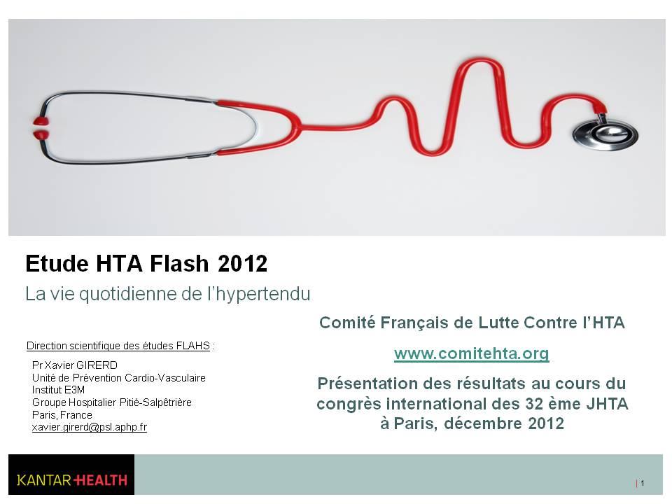FLAHS 2012 : Evaluer l'accès aux soins des hypertendus