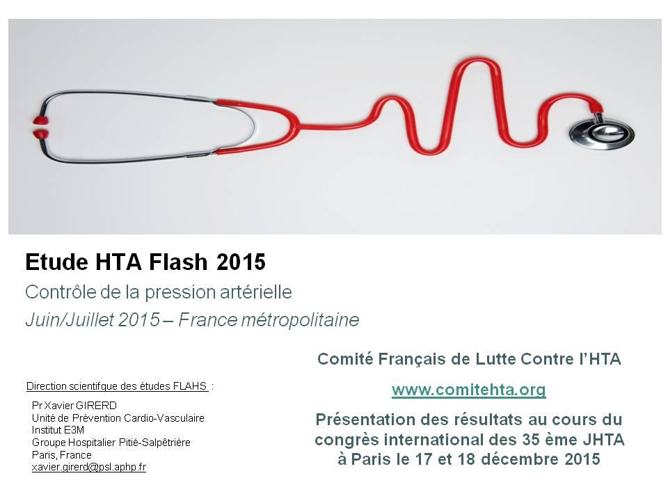 FLAHS 2015 : Evaluer le contrôle de la tension par l'automesure